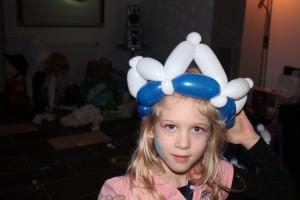 Luftballonmodellage Krone