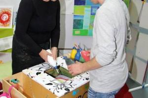 Kunstbox, abstrakte Kunst