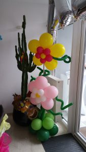 Luftballondekortion Blumen