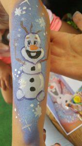 Kinderschminken Olaf